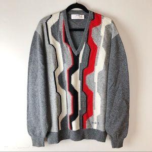 Pringle Of Scotland   Striped Wool Sweater Size XL